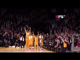 Kobe Bryant hits 3 CLUTCH three-pointers vs. Raptors (Lakers broadcast)
