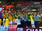 Entrega da Taça! Brasil 3 x 2 Espanha (Spain) FIFA World Cup of Futsal 18/11/2012