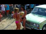 Hungarian Car Wash Convention Beautiful Girls - Budapest, Hungary - October 2012