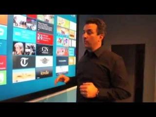 Microsoft Windows 8 [82-inch Touchscreen][Hands-on][MWC 2012][HD]