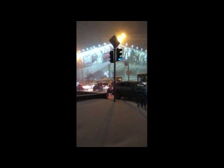 Киев 22 марта снегопад и пробки. Київ завірюха, сніг.