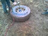Бортировка колеса взрывом BFG AT R17 35