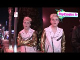 Jedward & Tara Reid on One Direction The Wanted & Justin Timberlake at Mondrian in West Hollywood