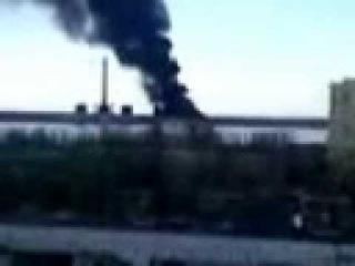 ТК Донбасс - Пожар на Углегорской ТЭЦ (видео2)