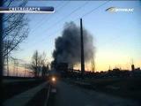 ТК Донбасс - Огонь полностью уничтожил Углегорскую ТЭС