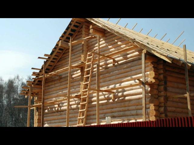Строительство деревянного дома 11,6х12 проект Эделвейс
