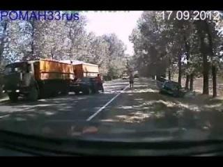 АВАРИИ 2012 Лобовое столкновение ACCIDENT 2012 Head on collision