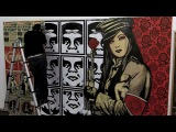 Obey Clothing UK X Urban Industry Store, Pasting of the Artwork of Shepard Fairey