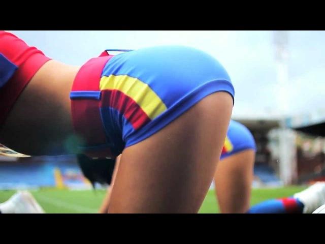 Animadoras Cheerleaders del Crystal Palace bailando GANGNAM STYLE Dancing
