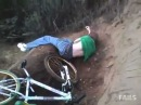BMX Dirt Ramp Fail - Guy flips over handlebars