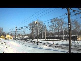 ЧС4Т с поездом Приобье-Москва едет в сторону Лянгасово