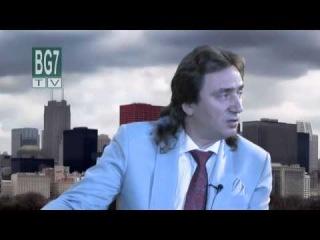 Сергей Серебряков на болгарском телевидинии BG7 в Чикаго