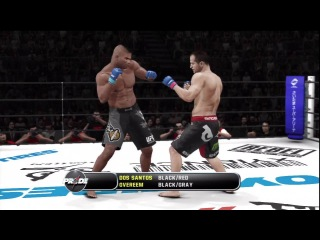 UFC Undisputed 3 Gameplay: Alistair Overeem vs. Junior Dos Santos - Pride FC (Cpu vs Cpu)
