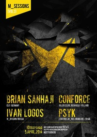 m_sessions: CONFORCE, PSYK, BRIAN SANHAJI (LIVE)