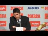 Rueda de prensa de Lionel Messi con la Bota de oro 2011/2012 I @Emenderk