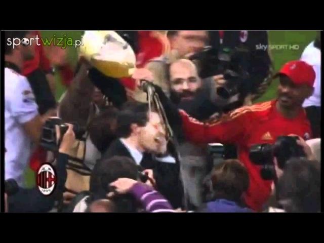 A.C. Milan - radość piłkarzy ze zdobycia mistrzostwa Włoch 2011