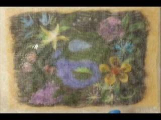 Планета цветов - картина из шерсти