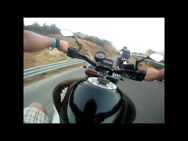 MT-03 Akrapovic al Tindari gopro homemade chest mount