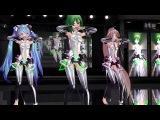 【MMD】Tda式改変GUMIがメグメグ☆ファイアーエンドレスナイトを踊った