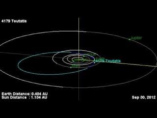 Asteroid Toutatis Oribit 2012