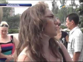 ТК Донбасс - Похороны погибшего на Мелекинской трассе