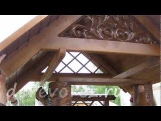 Сборка колодезного домика