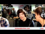 one direction playing with helium balloons on kyle and jackie O show