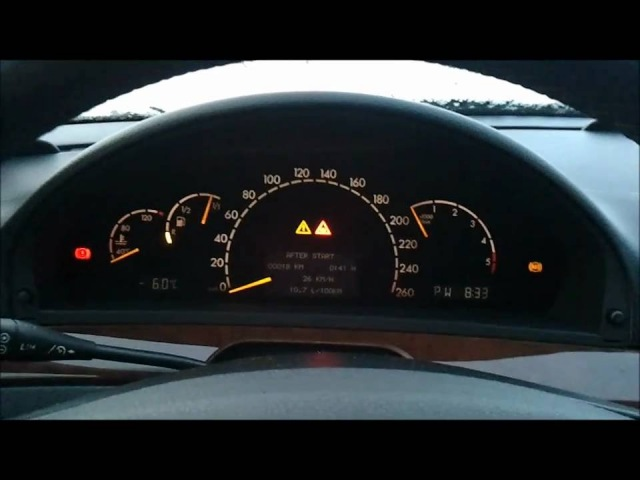 S320CDI coldstart -6°C