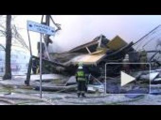 Гипермаркет сгорел под наблюдением пожарных