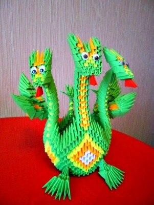 сборкой модульного оригами