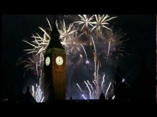 Салют в Лондоне на Новый год 2012