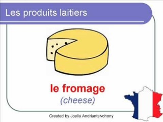 French Lesson 27 - FOOD VOCABULARY - LES PRODUITS LAITIERS (Dairy products)