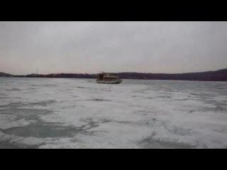 Аэробот. Движение по льду. Испытания новой лодки
