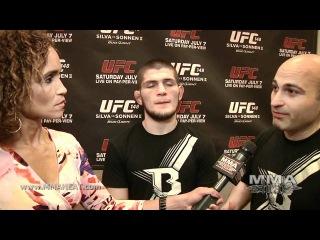 UFC148 Хабиб Нурмагомедов интервью после боя с Г.Тибау