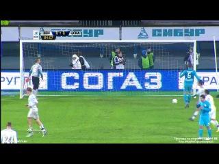 Зенит - ЦСКА 1:1. Гол Эльма 85′ (пенальти)
