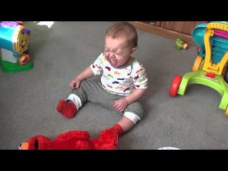 Baby scared of TMX elmo