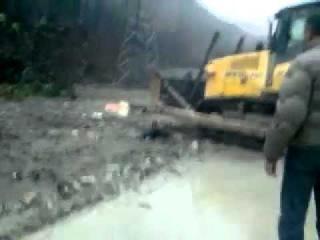 Наводнение в SOCHI.Krasnaya Polyana.УТОНУЛ КАМАЗ!
