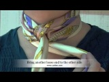 How To Tie a CORIEE Silk Scarf with Criss-Cross Knot