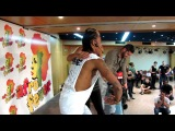 MORENASSO and ANAIS details about the kizomba step. AFRO-FEVER 2013 Lisbon.