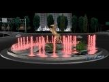 Визуализация фонтана на площади Минутка в г.Грозный.