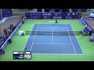 ACO 2013 - Day 5 Match 1 Highlights Marin Cilic (CRO) vs Benoit Paire (FRA)