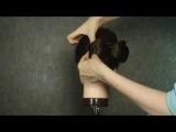 Прическа 'Бант'- как сделать бант из волос за 2 минуты!