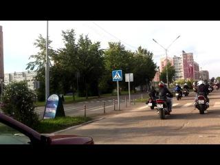 Автопробег в г.Удомля ко дню Российского Флага