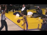 02 17 2009 Hawks vs Lakers Shannon Brown Amazing Athletic Block On Mario West HD