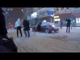 Прогулка по Киеву на снегоходе