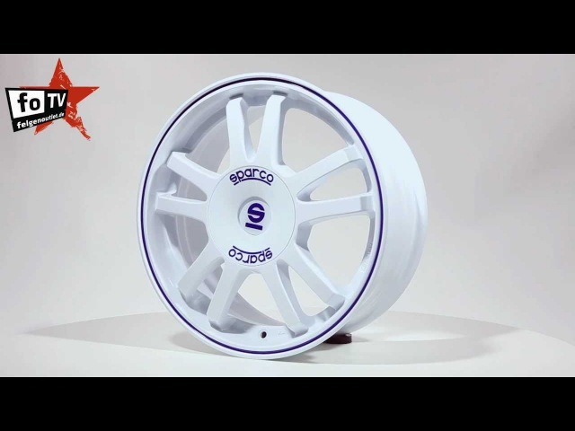 FelgenOutlet de Sparco Rally White Blue LIP