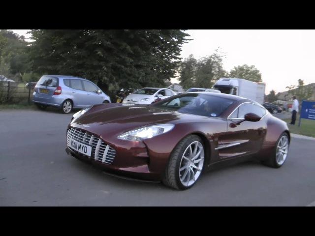 Aston Martin One-77, V12 Zagato and 2012 Vanquish at Salon Prive 2012