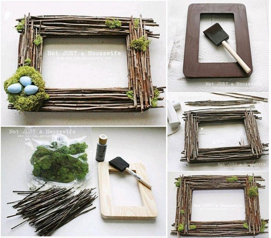 Рамка для фотографий из подручных материалов