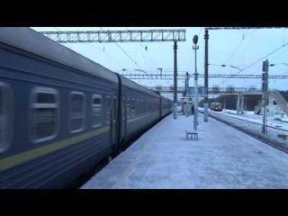 Электровоз ЧС7 с поездом № 4 Киев - Москва