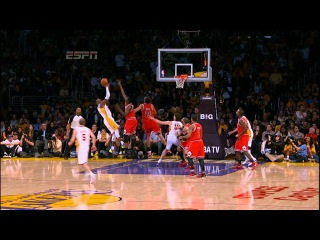 Kobe spins, fades, hangs and hits the jumper